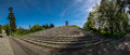 Monument of polish soldiers panorama wroclaw grabiszynska cementary Royalty Free Stock Image