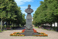 Monument of russian battle painter vasily vereshch vereshchagin one the most famous painters in cherepovets russia Stock Image