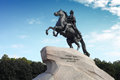Monument of Russian emperor Peter the Great Royalty Free Stock Photography