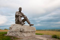 Monument shukshin on mount picket sculpture vasily Stock Image