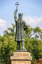 Monument of Stefan cel Mare in Chisinau, Moldova Royalty Free Stock Photo