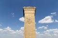 Monument till folkets hjältar på den tiananmen fyrkanten peking Royaltyfri Fotografi