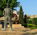 Monument to Agricultor with a spud, Toledo, Spain Royalty Free Stock Photo