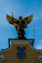Monument to archangel michael kiev ukraine Royalty Free Stock Photos
