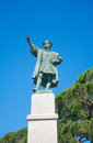 Monument to christopher columbus rapallo italy by arturo dresco liguria Royalty Free Stock Image