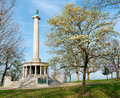 Monument to civil war soldiers near chattanooga tennessee at point park on lookout mountain Stock Photos