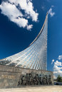 Monument to the Conquerors of Space in Moscow Royalty Free Stock Photo
