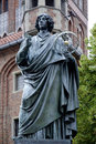 Monument to copernicus of torun in poland the astronomer nicolaus front the old city hall the polish city Royalty Free Stock Images