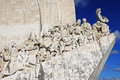 The monument to the discoveries in belem lisbon portugal Royalty Free Stock Photography
