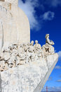 The monument to the discoveries in belem lisbon portugal Stock Photos
