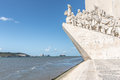 Monument to the discoveries in lisbon portugal Royalty Free Stock Photo