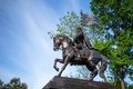 The monument to dmitry donskoy in sky background in moscow russia Royalty Free Stock Images