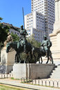 Monument to Don Quixote and Sancho Panza in Madrid