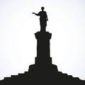 Monument to Duke de Richelieu. Odessa, Ukraine. Vector sketch