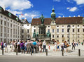 Monument to Emperor Franz I in Vienna Royalty Free Stock Photo