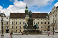 Monument to emperor franz i vienna of austria Stock Images