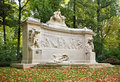 Monument to Fallen of Belgian Colonial Effort in Parc du Cinquantenaire – Jubelpark. Brussels. Belgium Royalty Free Stock Photo