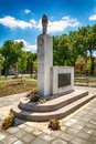 Monument to the fallen fighters of the National Liberation War and victims of fascist terror in Somb Royalty Free Stock Photo