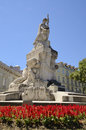 Monument to the fallen in world war i in liberty avenue lisbon portugal Royalty Free Stock Photography