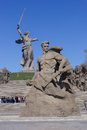 The monument to fight death against background of motherland calls about war soldiers of second Stock Photo
