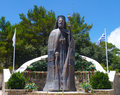 The monument to the first President of Cyprus Archbishop Makarios Royalty Free Stock Photo