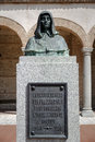 Monument to fray bartolome olmedo evangelist of america in his hometown of valladolid Stock Photography