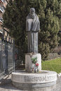 Monument to fray Leopoldo de Alpandeire in Plaza del Triunfo, Gr Royalty Free Stock Photos