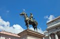 Monument to giuseppe garibaldi in genoa equestrian statue of general hero of italian unification sculptor augusto rivalta ferrari Stock Photo