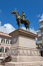 Monument to giuseppe garibaldi in genoa equestrian statue of general hero of italian unification sculptor augusto rivalta ferrari Stock Photos