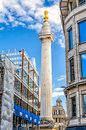 Monument to the Great Fire of London Royalty Free Stock Photo