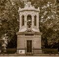 Monument to Henri Darcy, sephia effect Royalty Free Stock Photo