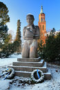 Monument to Hero in Savonlinna, Finland Royalty Free Stock Images