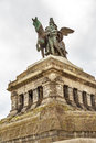 Monument to kaiser wilhelm i emperor william on deutsches ecke german corner in koblenz germany Stock Photography