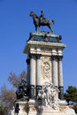 Monument to King Alfonso XII in Madrid Stock Image