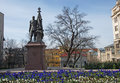 Monument to the last Russian czar Nickolai II Royalty Free Stock Photo