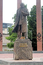 Monument to the leader of the Ukrainian nationalist and independence movement Stepan Bandera Royalty Free Stock Photo