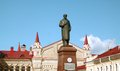 Monument to lenin in russian of siti rybinsk Royalty Free Stock Photography