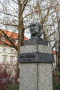 Monument to leon schiller in warsaw january de schildenfeld unveiled by the project of marian wnuk poland on january Stock Images