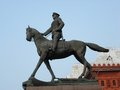 Monument to marshal zhukov on red square in moscow russia a light sky background Royalty Free Stock Images