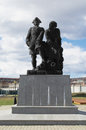 Monument to peter the great and nikita demidov in city of nevyansk russia Royalty Free Stock Images