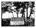 Monument to Peter M. Gideon and the Wealthy Apple vintage illustration Royalty Free Stock Photo