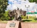 The monument to pushkin vitebsk belarus Royalty Free Stock Photos