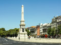 Monument to the restorers the monument is located in restauradores square in lisbon portugal Stock Photography