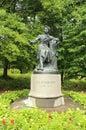 Monument to russian famous poet alexander pushkin located in pushkinskiye gory pskov oblast russia th century Royalty Free Stock Photo