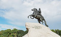 Monument to the Russian tsar Peter the Great, Saint-petersburg Royalty Free Stock Photo