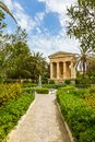 Monument to sir alexander ball in the lower barrakka gardens valletta malta Stock Image