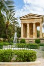 Monument to sir alexander ball in the lower barrakka gardens valletta malta Royalty Free Stock Image