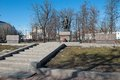 Monument to soldiers who defend peace and freedom in the fight against fascism moscow samotechnaja street established in sculptor Stock Images