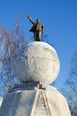 Monument to the Soviet head V.I.Lenin Stock Photography