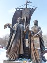 Monument to St. Prince Peter and St. Fevronia of Murom, patrons of marriage and family. The monument was unveiled on June 5, 2012. Royalty Free Stock Photo